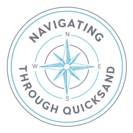 Navigating through quicksand logo